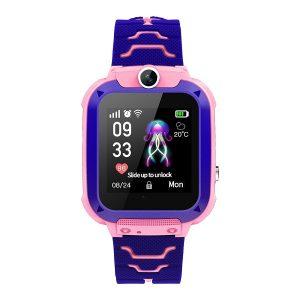 Детски GSM/GPS смарт часовник Q12, розов