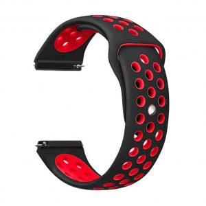 20 мм силиконова каишка тип копче, червена