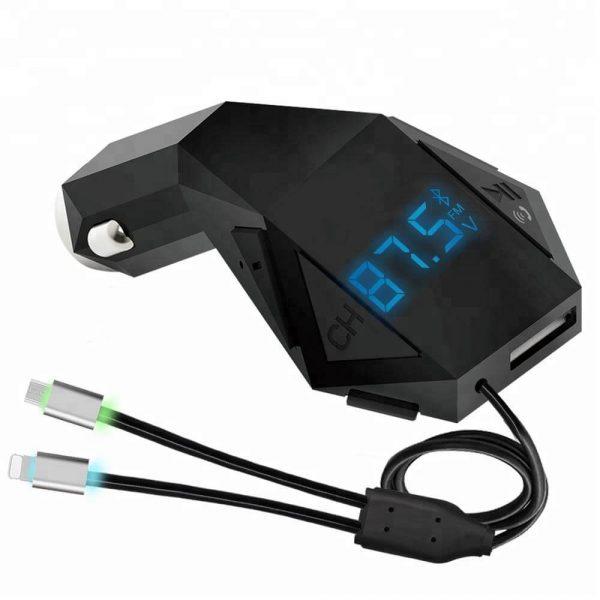 FM Bluetooth трансмитер, зарядно за кола - N8S