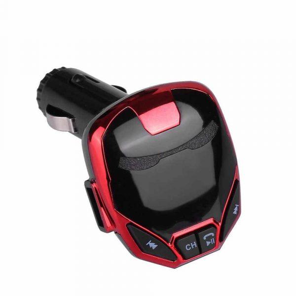 FM трансмитер с Bluetooth, зарядно за кола, MP3 плеер - Iron Man