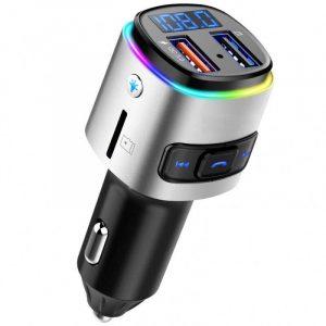 Компактен FM Bluetooth трансмитер с зарядно за кола, MP3 плеър - BC41