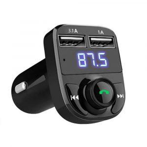 Bluetooth трансмитер, зарядно за кола и mp3 плеер - X8