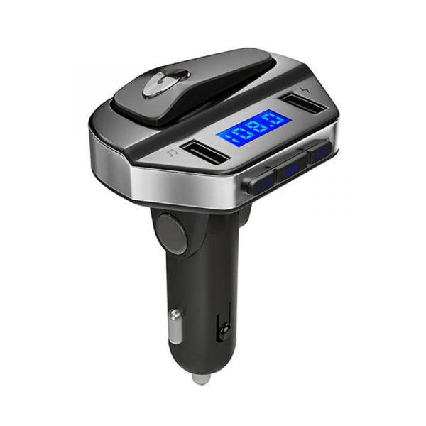 FM Bluetooth трансмитер с хендсфрий, зарядно за кола, MP3 плеер - V6