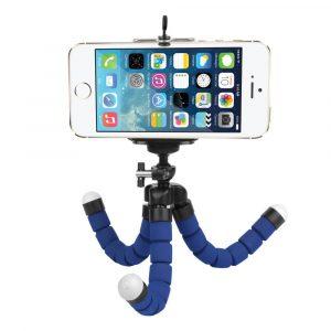 Гъвкав трипод за смартфон, 18 см, син