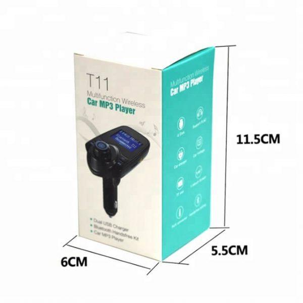 FM трансмитер с Bluetooth, зарядно за кола, MP3 плеер - T11
