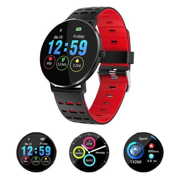 Смарт часовник Microwear L6 (силиконова каишка), червен