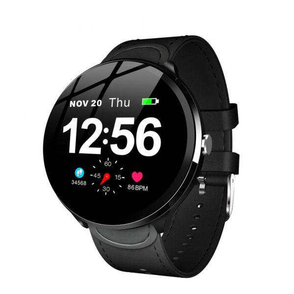 Смарт часовник V12, черен
