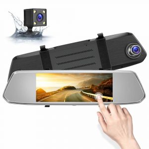 Камера за кола тип огледало F700 - задно виждане, 1080p, 7 инчов тъчскрийн екран