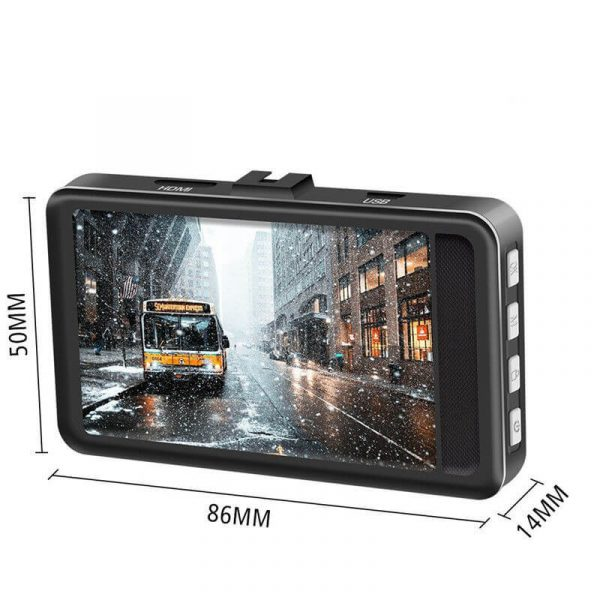 Видеорегистратор за кола T206 Full HD 1080p, 3 инчов