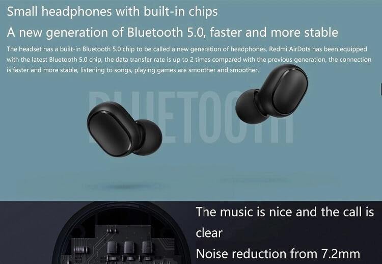 Безжични Bluetooth слушалки Xiaomi AirDots TWS