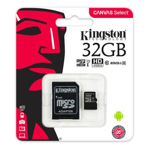 Карта памет Kingston microSDHC 32GB C10/UHS-I/U1