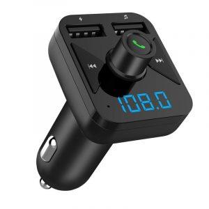 FM Bluetooth трансмитер с USB зарядно за кола, MP3 плеър - BT16